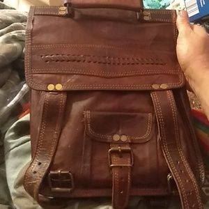 Handbags - One of a kind handmade 100% leather backpack